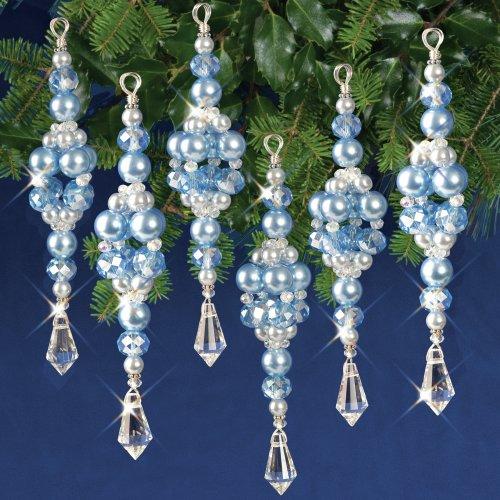 Nostalgic Christmas Beaded Crystal Ornament Kit-Blue Crystal Ice Drops