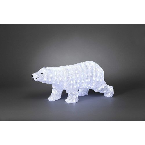 Christmas decoration Large 70cm 200 LED Lights White Winter Walking Polar Bear on OnBuy