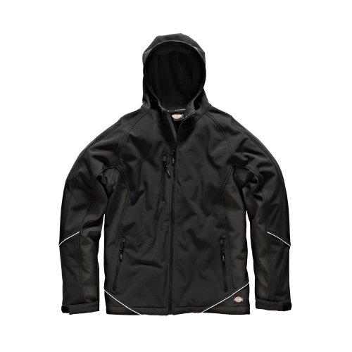 Dickies Two Tone Softshell Black Jacket (Various Sizes) Men's Work Coat