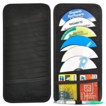 Trixes 12 Disc Cd Holder for Your Car Sun Visor