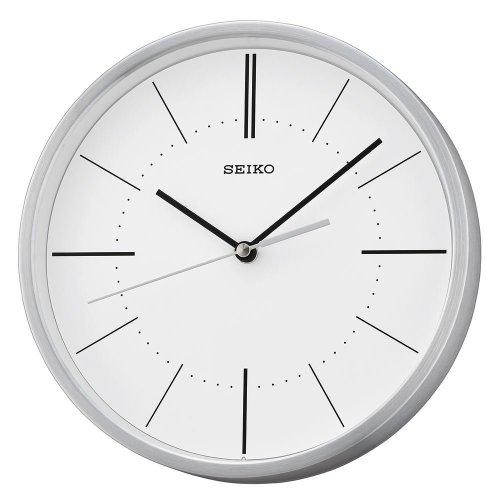 Seiko QXA715S Aluminium Wall Clock - Silver with White Dial
