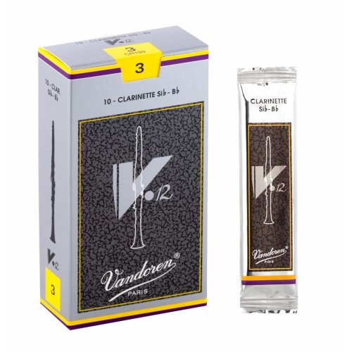 Vandoren CR193 V12 Bb Clarinet Reeds (Strength 3) (Pack of 10)