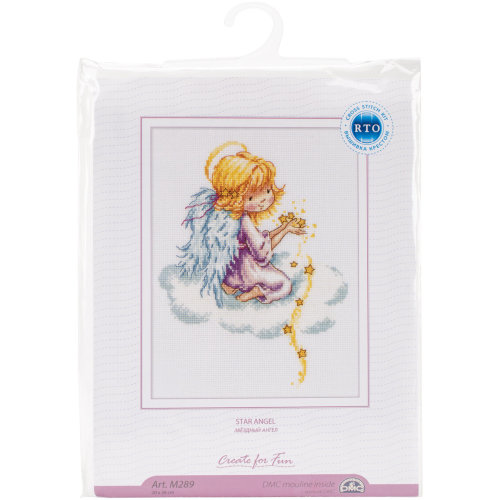 """Star Angel Counted Cross Stitch Kit-8""""X10.25"""" 14 Count"""
