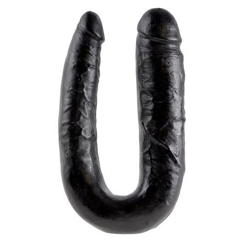 King Cock Large Double Trouble Black  Dildo Dildo Double - King Cock