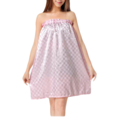 High-grade Sauna Salon Bathrobe Bath Skirt Strapless Smooth Bathing Dress-A02