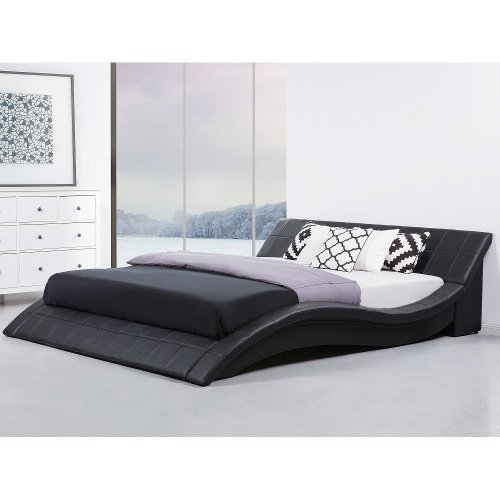 Leather Bed 180x200 cm - Super King Size Bed incl. stable slatted frame - VICHY