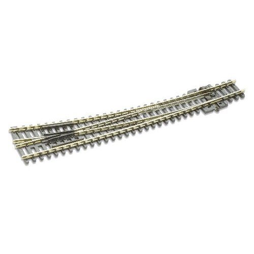 Peco N Scale Code 80 Insulfrog Double Curved Right Hand Turnout