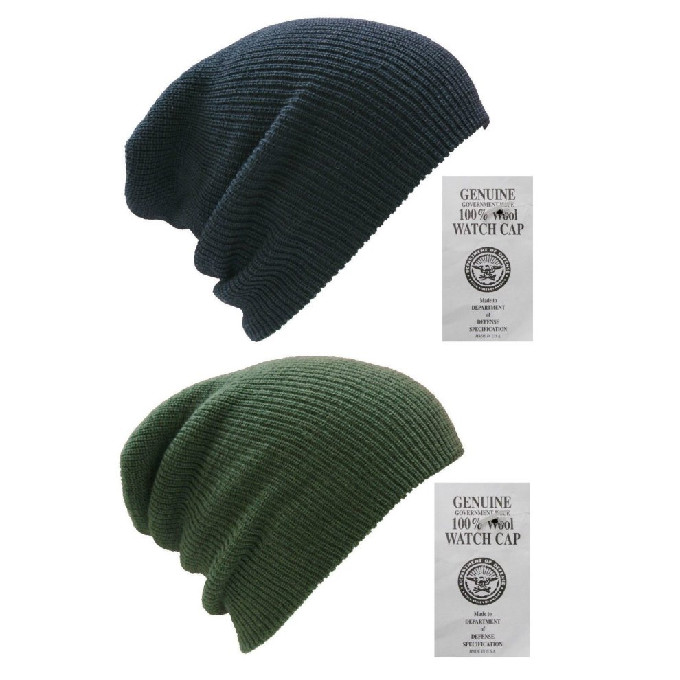 588be4110 New 100% Wool Hat Us Army Watch Cap Outdoor Beanie