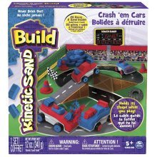 Kinetic Sand Crash Em Cars Playset (Multi-Colour)