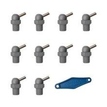 'TPF Commercial 39174000–High Pressure Nozzle CD (70Bar 1/4D 1.6mm, L 12.7mm), Grey