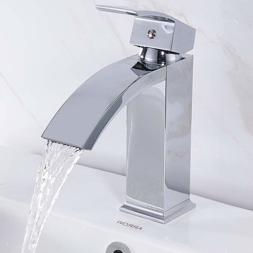 Modern Bathroom Taps Chrome Solid Brass Basin Mixer Tap & Free Hose Cloakroom Faucet