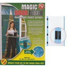 Magic Door Mesh - 2 Assorted Colours. - Magnetic Fastening Fly Screen Bug -  magnetic door mesh fastening fly screen bug insect high quality curtains