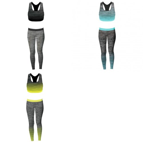 Sport Zone Womens/Ladies Crop Top And Leggings Set