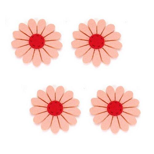 Set of 4 Special Magic Stick Hair Claw/Hair Clip/ Orange