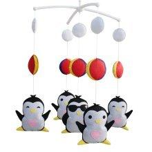 Cute Gift, Infants' Musical Mobile, Creative Toys [Penguin] Rotatable Mobile