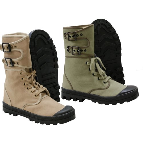 French Ranger Boots Lace Up Canvas Army Footwear