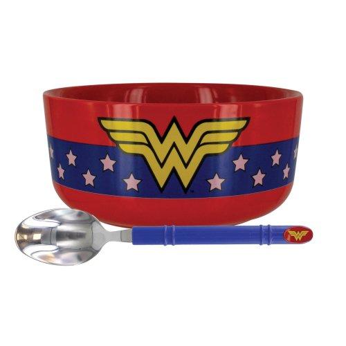 DC Comics Wonderwoman Breakfast Set - Bowl & Matching Spoon