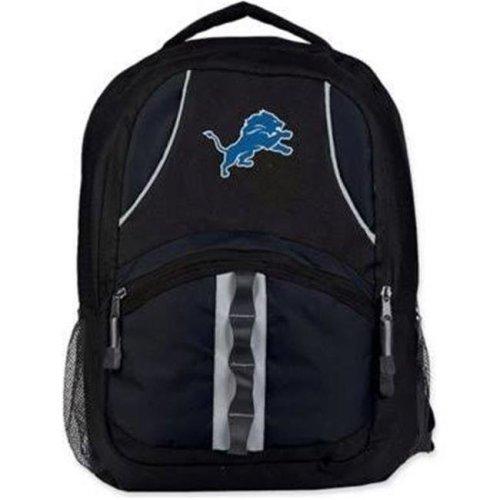 Northwest C11NFLC02002082RTL 18.5 x 8 x 13 NFL C02 Lions Captain Backpack, Black & Black