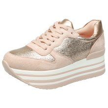 Leighton Womens Lace Up Flatform Trainers