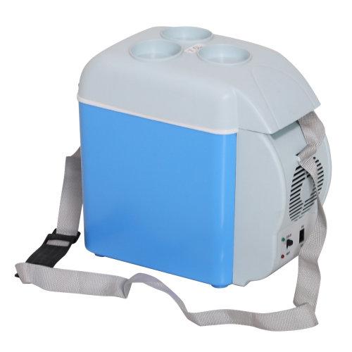 HOMCOM  7.5 Litre Mini Car Refrigerator Fridge Portable Electric Cooler Box Warmer Freezer Outdoor Caming Picnic Travel