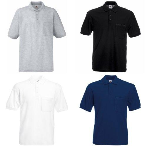 Fruit Of The Loom Mens Pocket 65/35 Pique© Short Sleeve Polo Shirt
