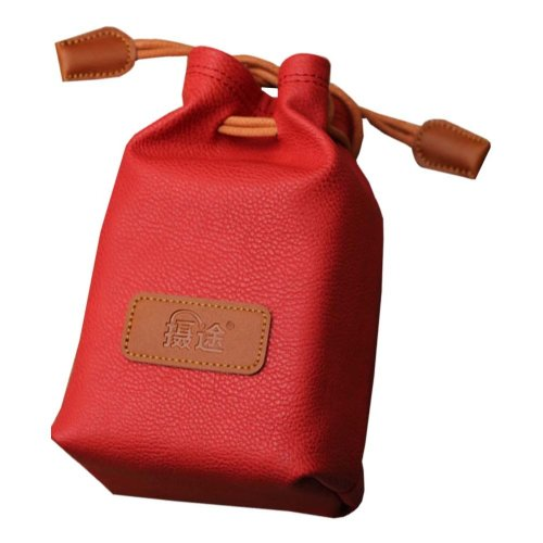 Red Small Camera Backpack Camera Lens Bag Lens Bag