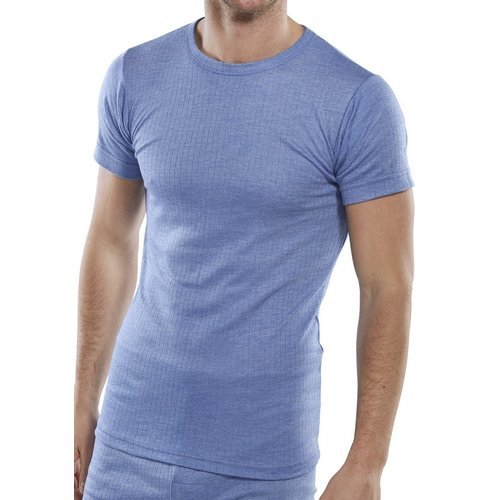 Click THVSSL Thermal Vest Short Sleeve Blue Large