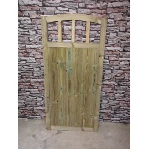 Dome Slatted Gate 5ft High (Buying Total Width)