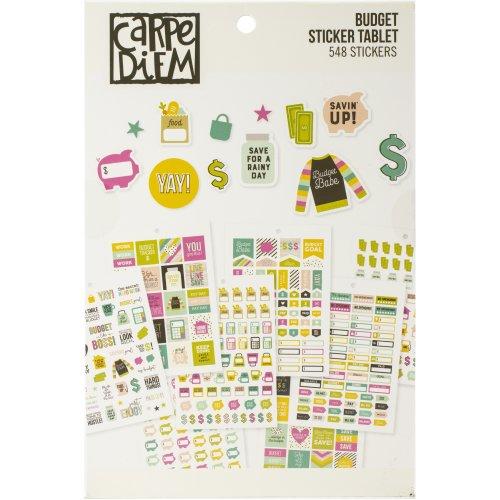 Carpe Diem A5 Planner Sticker Tablet-Budget, 561/Pkg