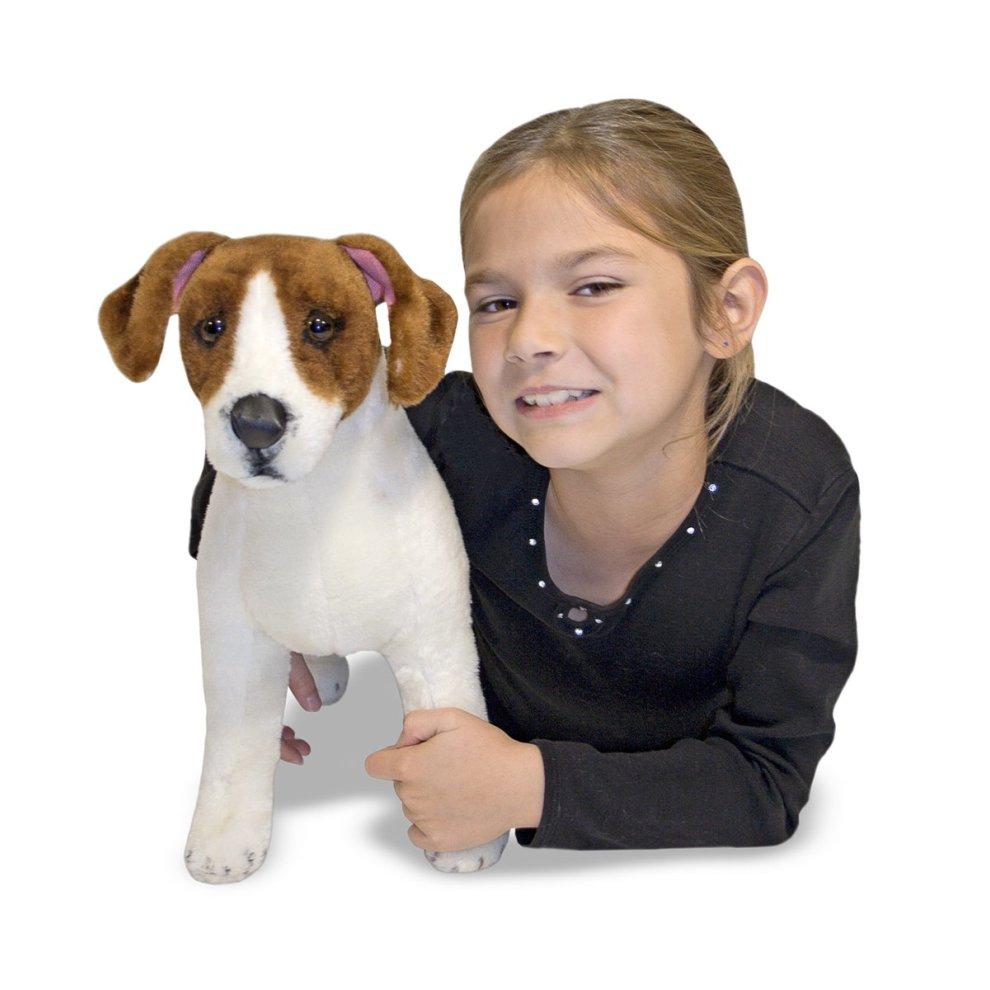Jack Russell Terrier Soft Toy Stuff Animal Dog Melissa Doug 30cm Realistic New