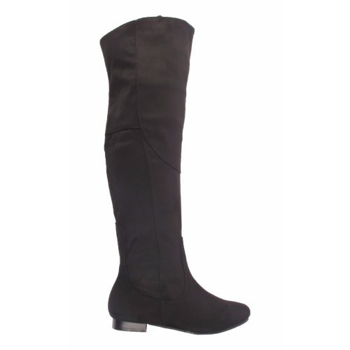 Ladies Daisy Street Faux Suede knee High Boots