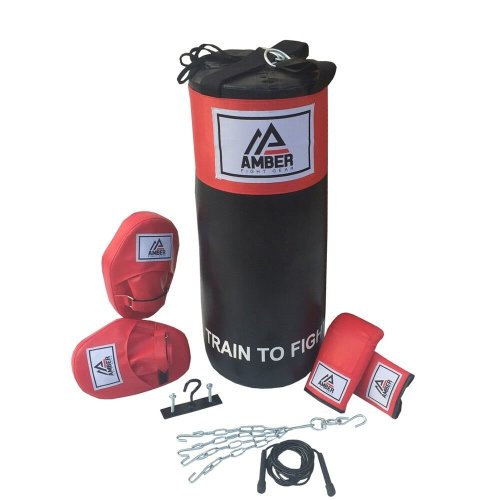 AFG Boxing Training Kit Punch Bag Gloves Mitts hanger Swivel Jump Rope