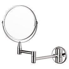"""Wall Mounted Makeup Mirror Extending Shaving 7"""" Mirror Double Sided Bathroom Swivel"""