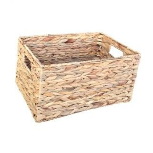 Medium Water Hyacinth Rectangular Storage Basket
