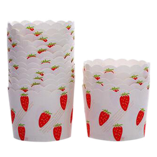 80 Count Home Cute Baking Cups Cupcakes Cases Cupcakes Cup, Strawberry Pattern