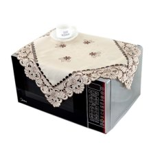 European Style Embroidered Microwave Oven Cover Microwave Protector, A