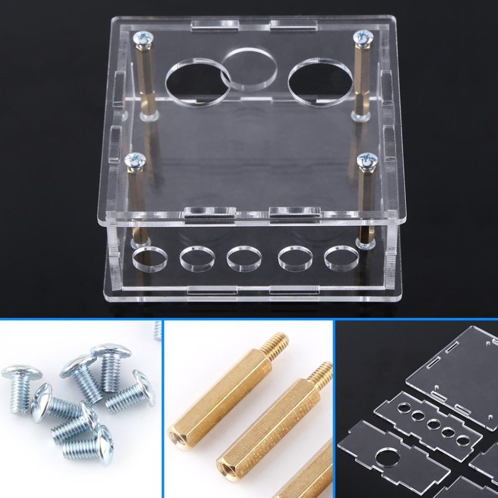 Acrylic DIY Case Shell Housing with Female x female Female x male Standoffs  and Screws, Protective Parts Kit For 6J1 Valve Tube Pre-Amplifier Board