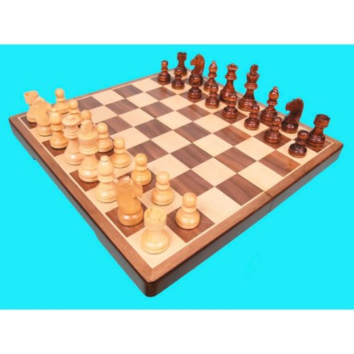 Wooden Boxed Chess Set | Veneered Chess Board, Pieces & Box