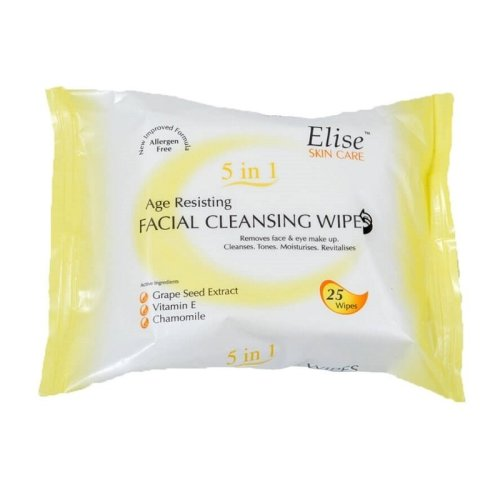 Elise 5 in 1 Cleansing Facial Wipes - Age Resisting