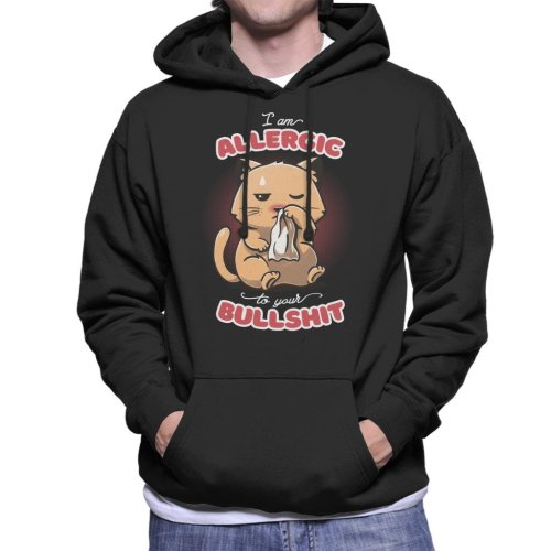 I Am Allergic To Your BS Cat Men's Hooded Sweatshirt