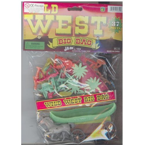Wild West Big Bag 37 Piece Playset With Cowboys, Indians, Wagon And Teepee