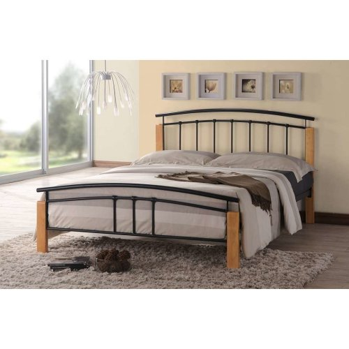 Tetras Bed Frame | Metal & Wood Bed Frame