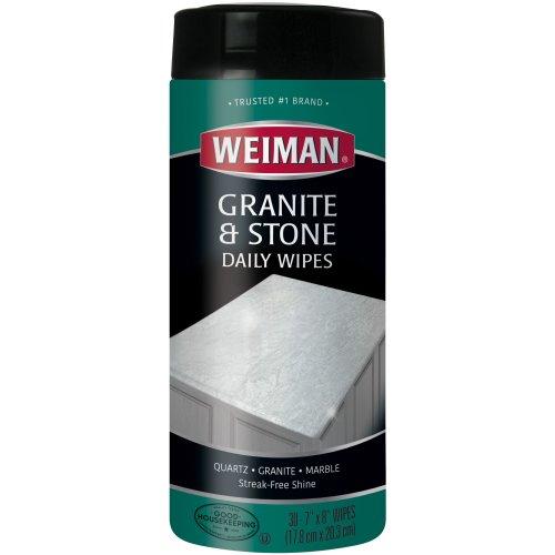 Weiman Granite & Stone Daily Wipes-30 Wipes/Pkg