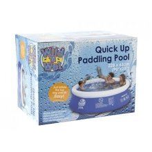 7.5'x25 Quick-up Pool With Filter Pump In Printed Box - Quick Up Paddling Pool -  quick up paddling pool fills 228cm immediate inflatable swimming