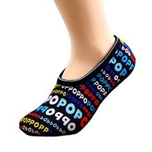 Creative Letter Grip Socks Winter Warm Socks for Yoga,Dance,Exercise,2 Pairs