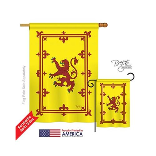 Breeze Decor 08077 Rampart Lion 2-Sided Vertical Impression House Flag - 28 x 40 in.