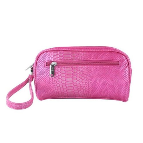 Picnic Gift 7666-PK Margarita-Insulated Cosmetics Bags with Removable Wristlet, Pink Reptilian