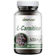 Lifeplan L.carnitine 500mg 60 Capsules