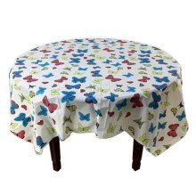 5 Pcs Printing Plastic Table Covers Disposable Party Tablecloths Butterfly