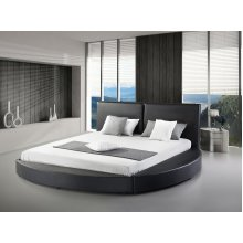 Bed 180x200 cm - Super King Size  - Genuine Leather - with Slatted Frame - LAVAL